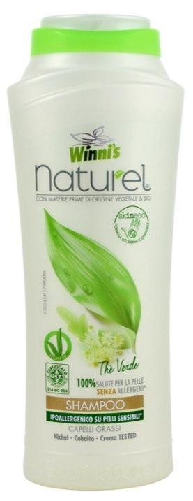 WINNIS NATUREL Shampoo The Verde šampon se zeleným čajem pro všechny druhy vlasů 250 ml