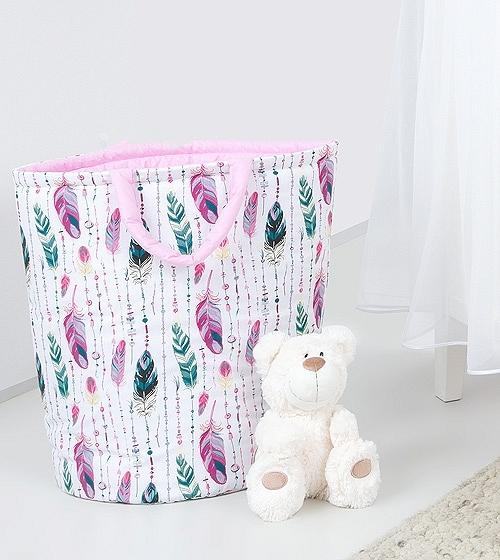 mamo-tato-box-na-hracky-oboustranny-ruzove-peri-ruzovy