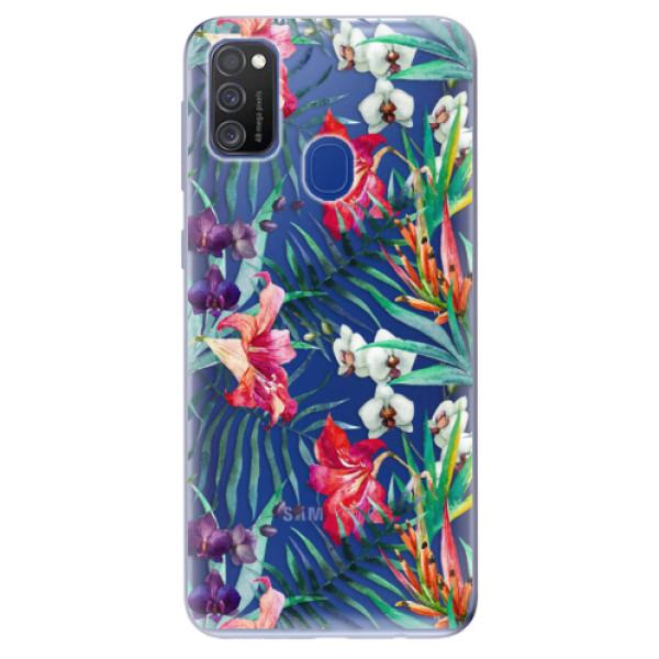 Odolné silikonové pouzdro iSaprio - Flower Pattern 03 - Samsung Galaxy M21