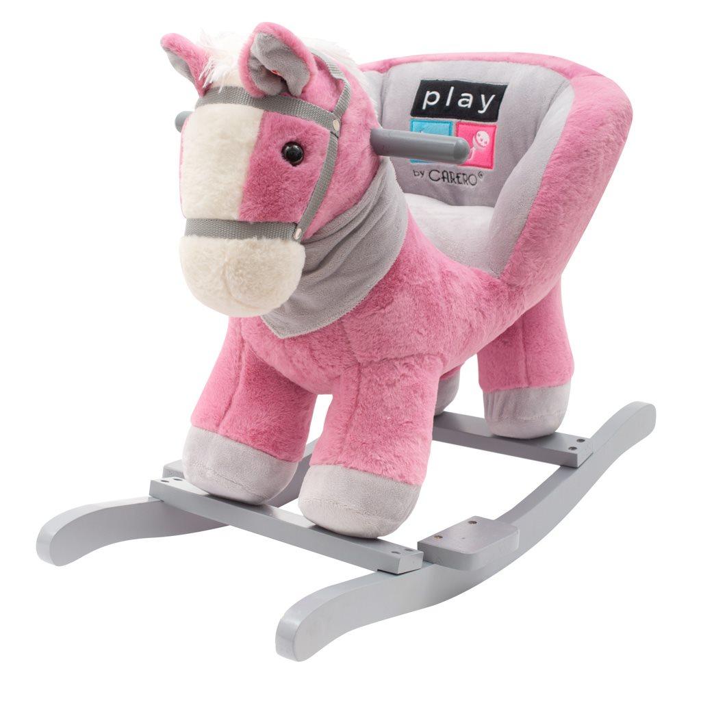 Houpací hračka s melodií PlayTo koník - růžová