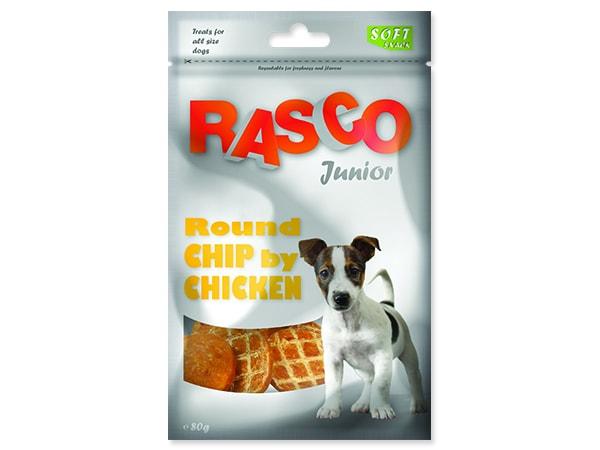 Pochoutka RASCO Dog Junior kolečka z kuřecího masa 80g