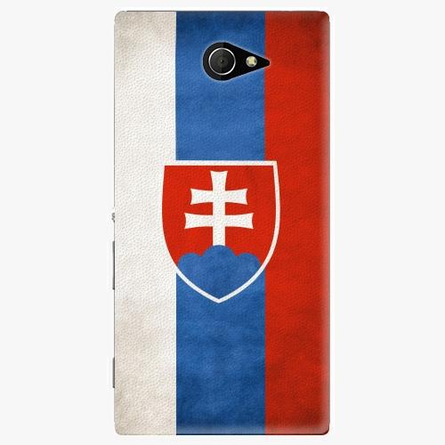 Plastový kryt iSaprio - Slovakia Flag - Sony Xperia M2