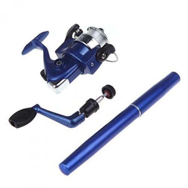 Mini rybářský prut s navijákem - pero - Modrá