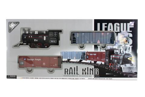 Vlaková sada kouřící lokomotiva