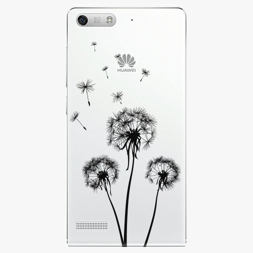 Plastový kryt iSaprio - Three Dandelions - black - Huawei Ascend G6