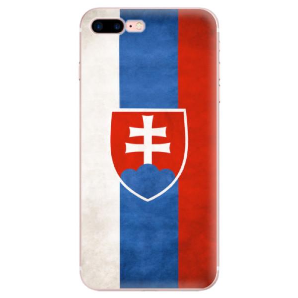 Odolné silikonové pouzdro iSaprio - Slovakia Flag - iPhone 7 Plus