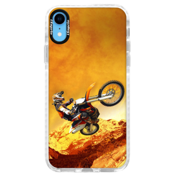 Silikonové pouzdro Bumper iSaprio - Motocross - iPhone XR