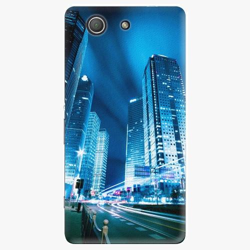 Plastový kryt iSaprio - Night City Blue - Sony Xperia Z3 Compact