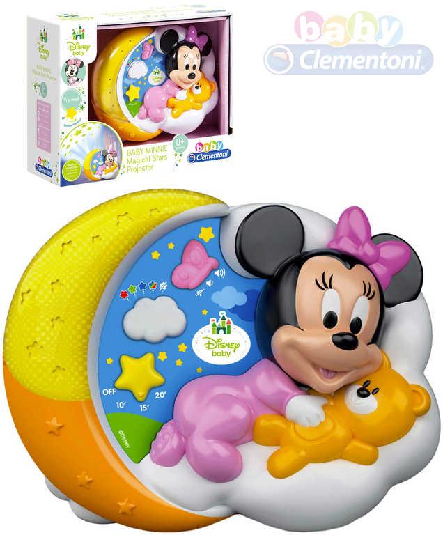 CLEMENTONI Baby projektor Minnie Mouse kouzelné hvězdy na baterie Světlo Zvuk