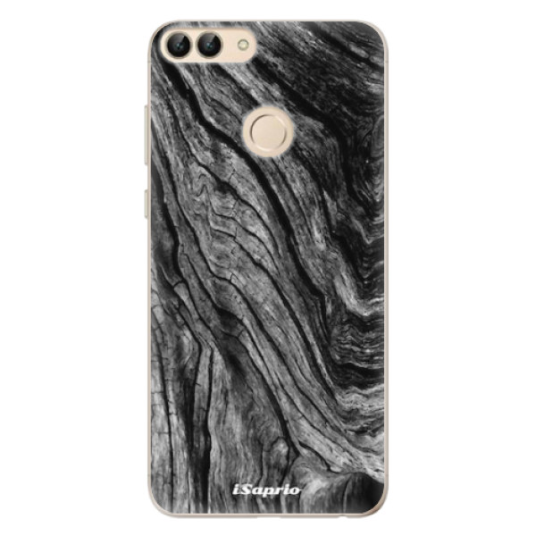 Odolné silikonové pouzdro iSaprio - Burned Wood - Huawei P Smart