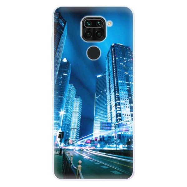 Odolné silikonové pouzdro iSaprio - Night City Blue - Xiaomi Redmi Note 9