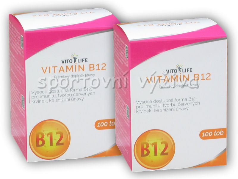 2x Vitamin B12 1000mcg 100 kapslí
