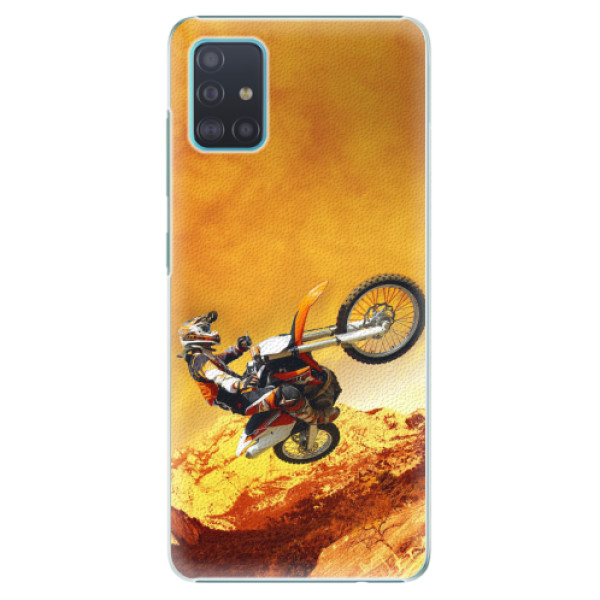 Plastové pouzdro iSaprio - Motocross - Samsung Galaxy A51
