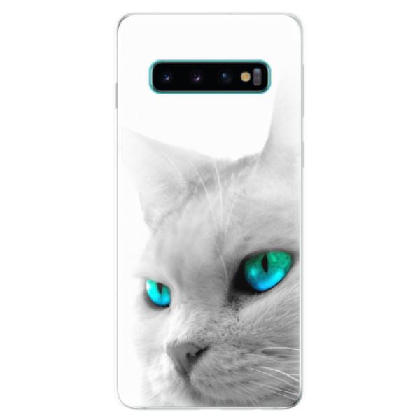 Odolné silikonové pouzdro iSaprio - Cats Eyes - Samsung Galaxy S10