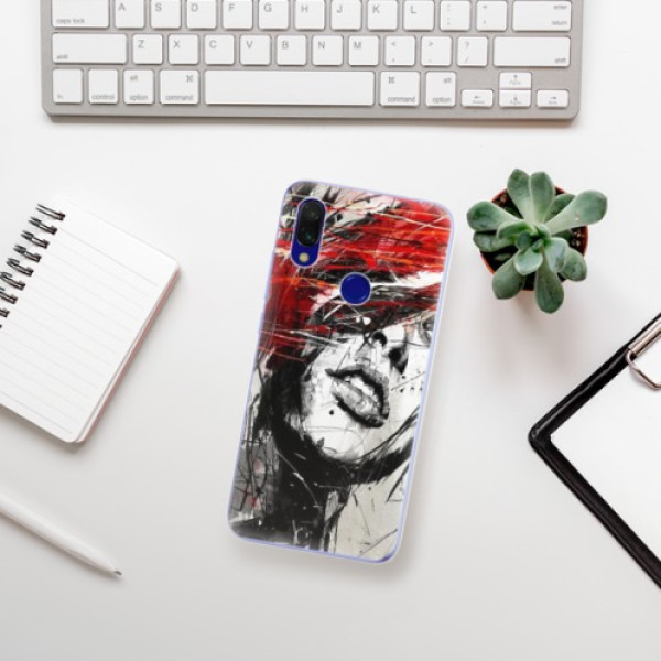 Odolné silikonové pouzdro iSaprio - Sketch Face - Xiaomi Redmi 7
