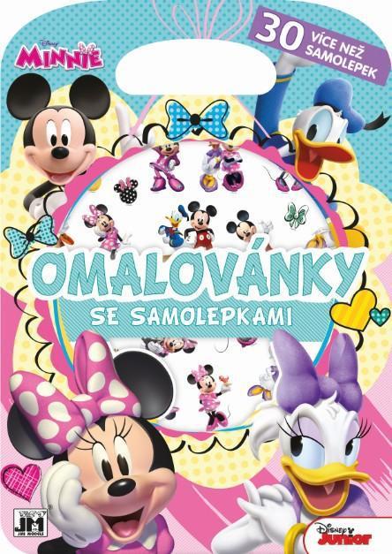 JIRI MODELS Blok kreativní Disney Minnie Mouse omalovánky se samolepkami