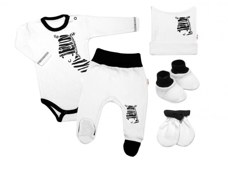 baby-nellys-5-ti-dilna-soupravicka-do-porodnice-zebra-bila-vel-62-62-2-3m