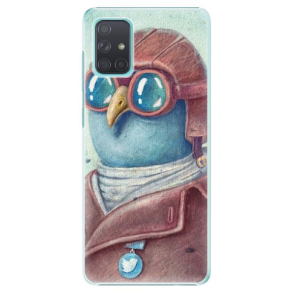 Plastové pouzdro iSaprio - Pilot twitter - Samsung Galaxy A71