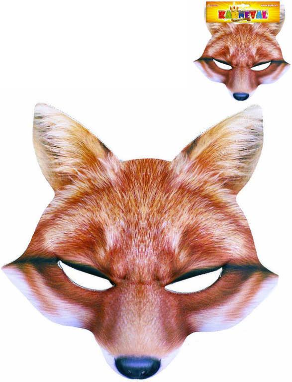 KARNEVAL Maska liška KARNEVALOVÝ DOPLNĚK