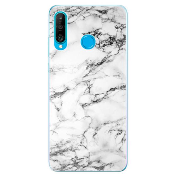 Odolné silikonové pouzdro iSaprio - White Marble 01 - Huawei P30 Lite