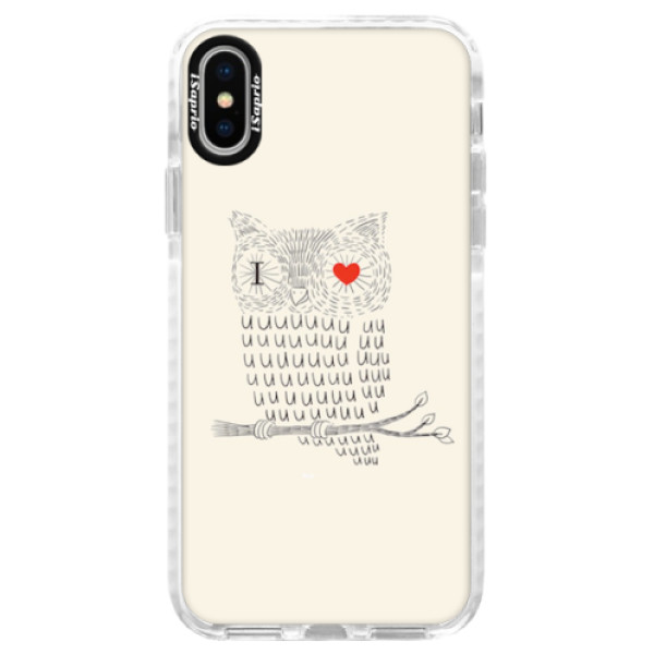 Silikonové pouzdro Bumper iSaprio - I Love You 01 - iPhone X