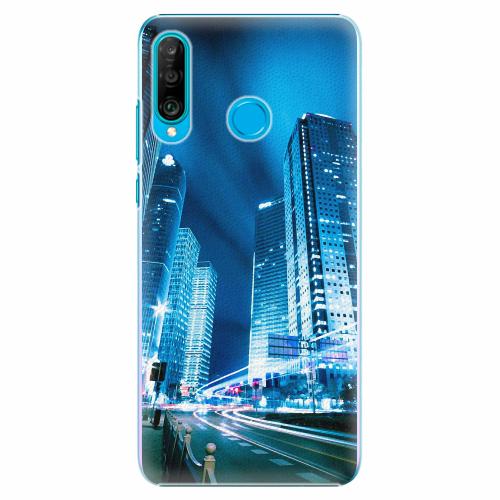 Plastový kryt iSaprio - Night City Blue - Huawei P30 Lite