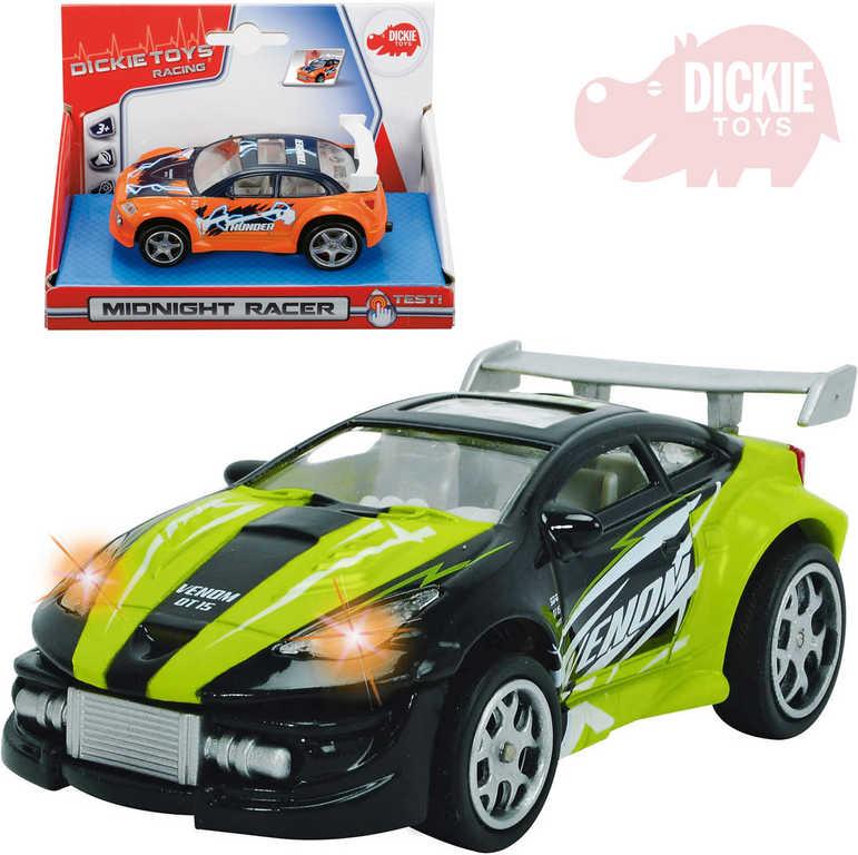 DICKIE Auto Midnight Racer 12cm na zpětný nátah 2 barvy Zvuk plast