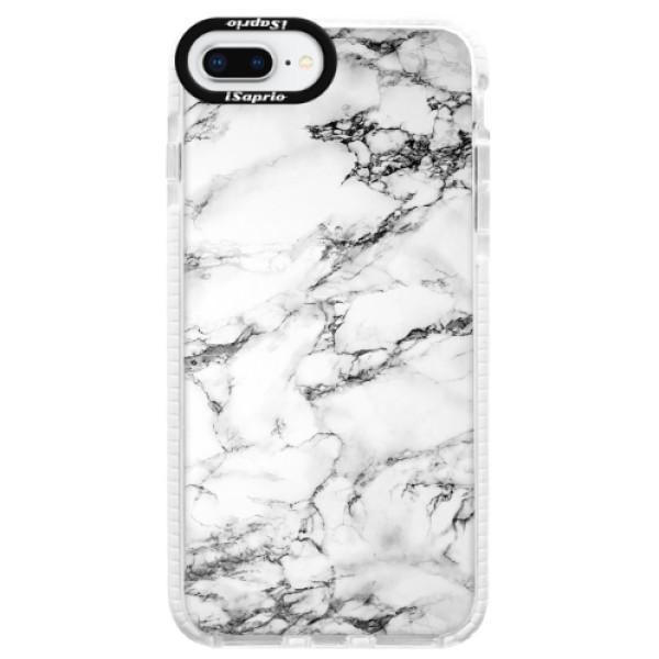 Silikonové pouzdro Bumper iSaprio - White Marble 01 - iPhone 8 Plus