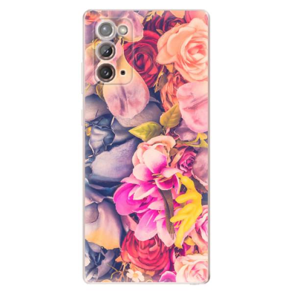 Odolné silikonové pouzdro iSaprio - Beauty Flowers - Samsung Galaxy Note 20