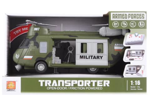 Vojenská helikoptéra na baterie