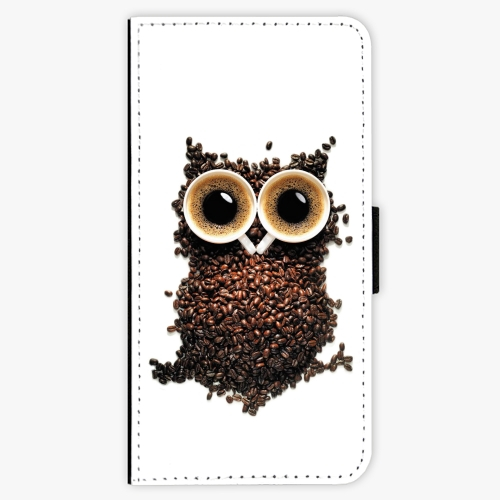 Flipové pouzdro iSaprio - Owl And Coffee - iPhone 7 Plus