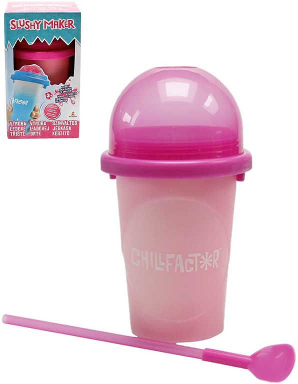 Chillfactor Slushy Maker výroba ledové tříště dětský shaker Růžový mění barvu plast