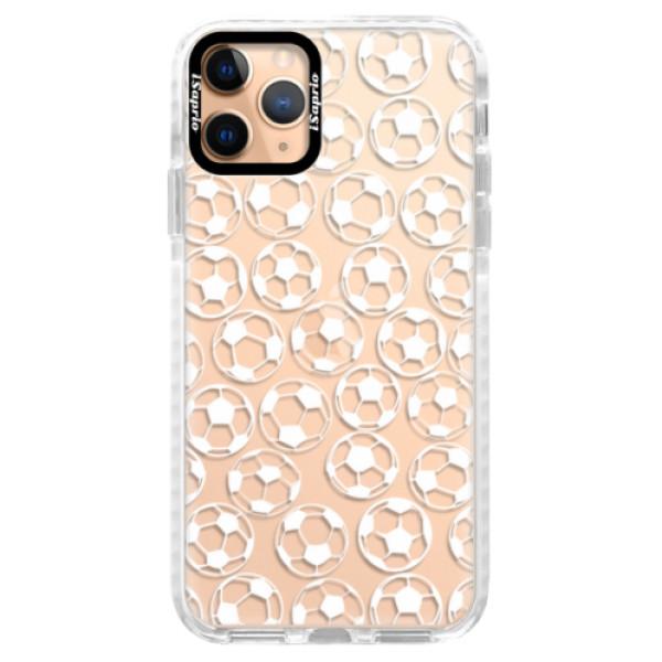 Silikonové pouzdro Bumper iSaprio - Football pattern - white - iPhone 11 Pro