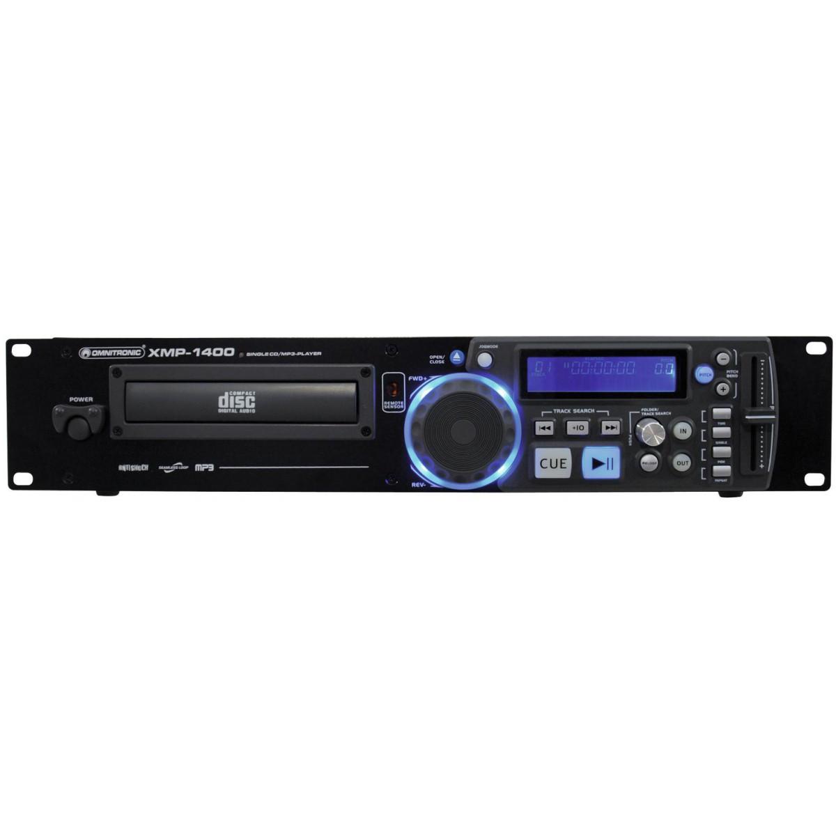 Omnitronic XMP-1400 MP3, CD přehrávač