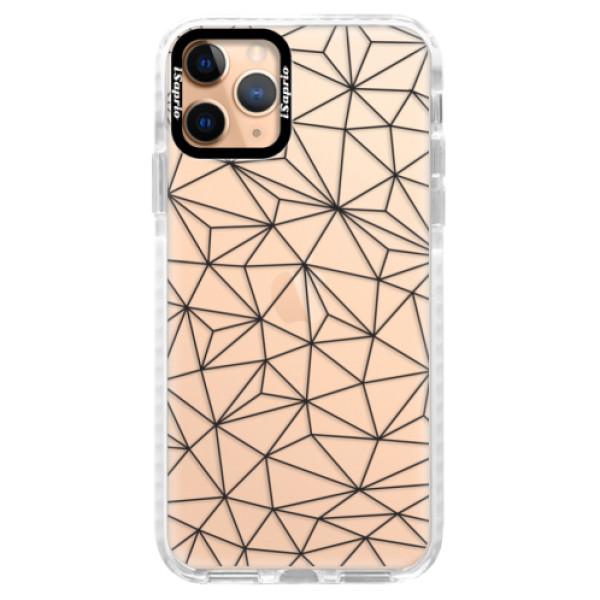 Silikonové pouzdro Bumper iSaprio - Abstract Triangles 03 - black - iPhone 11 Pro