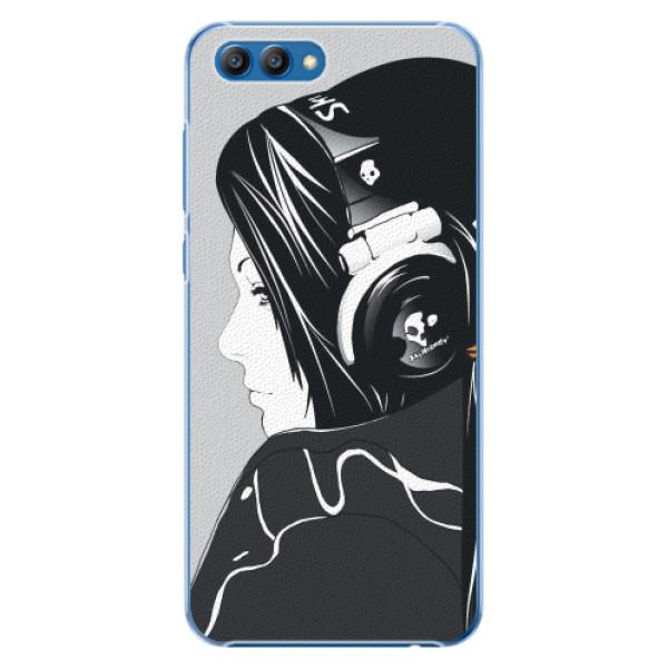 Plastové pouzdro iSaprio - Headphones - Huawei Honor View 10