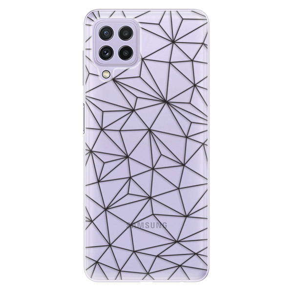 Odolné silikonové pouzdro iSaprio - Abstract Triangles 03 - black - Samsung Galaxy A22