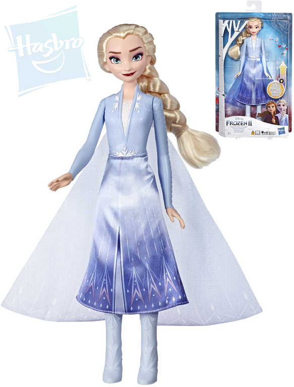 HASBRO Svítící panenka Elza Frozen 2 (Ledové Království) na baterie Světlo