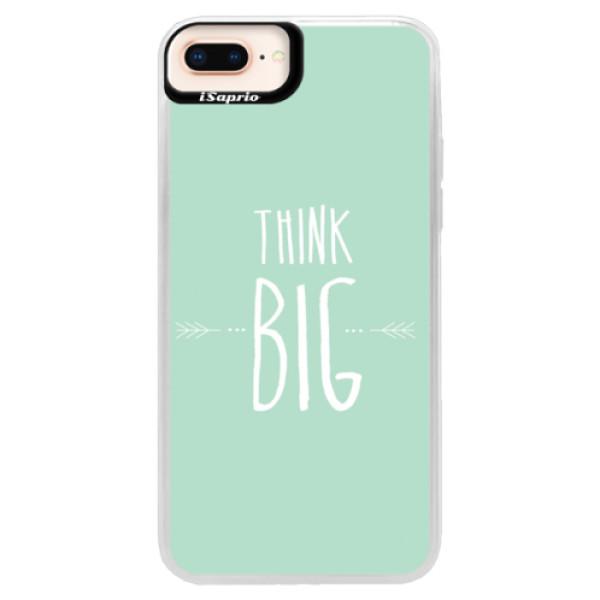 Neonové pouzdro Pink iSaprio - Think Big - iPhone 8 Plus