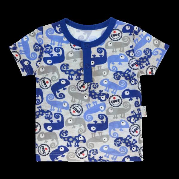 Bavlněné Polo tričko Mamatti Chameleon krátký rukáv