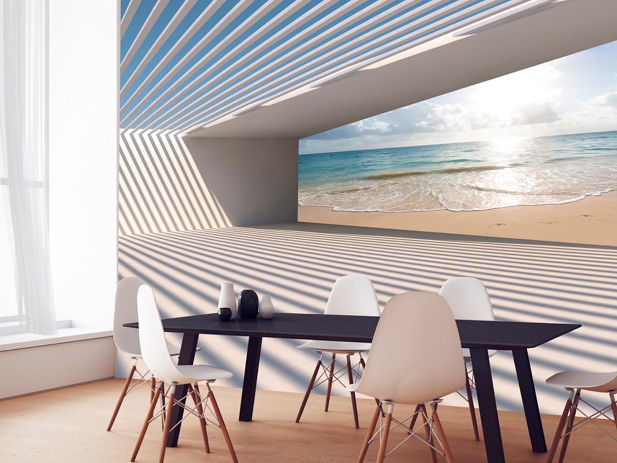 3D tapeta - Cesta k pláži