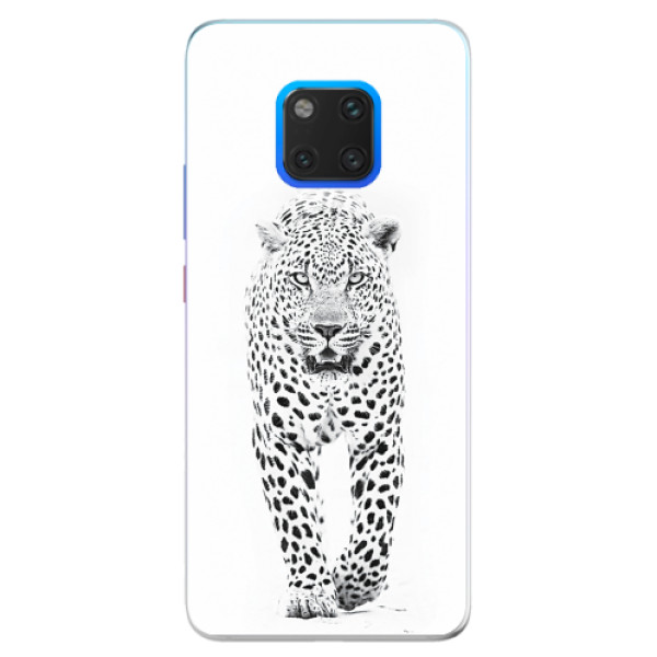 Silikonové pouzdro iSaprio - White Jaguar - Huawei Mate 20 Pro
