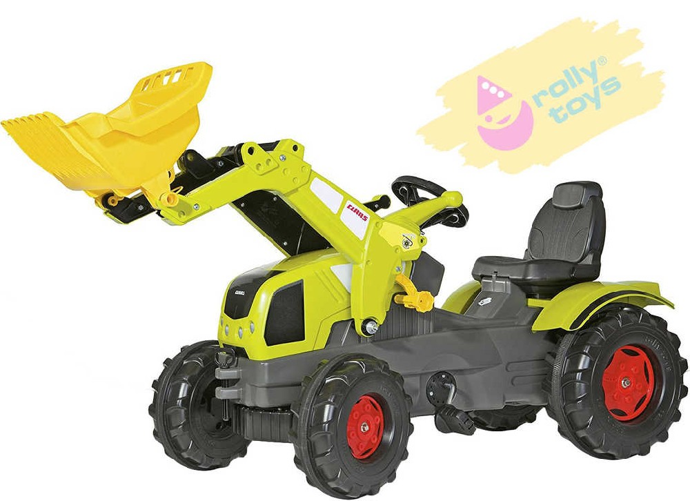 ROLLY TOYS Traktor šlapací FarmTrac Claas Axos 340 s čelním nakladačem
