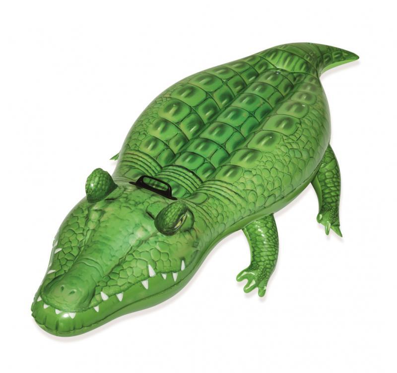 Nafukovací krokodýl s držadlem, 168 x 89 cm
