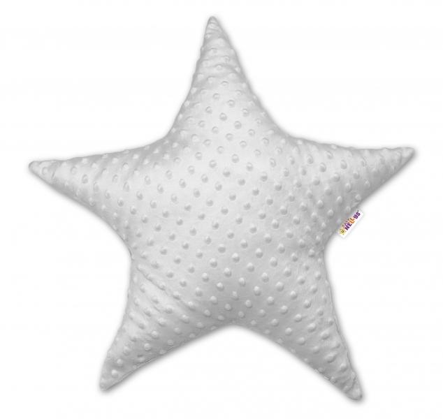 Dětský dekorační polštář Baby Nellys, hvězdička - minky šedá