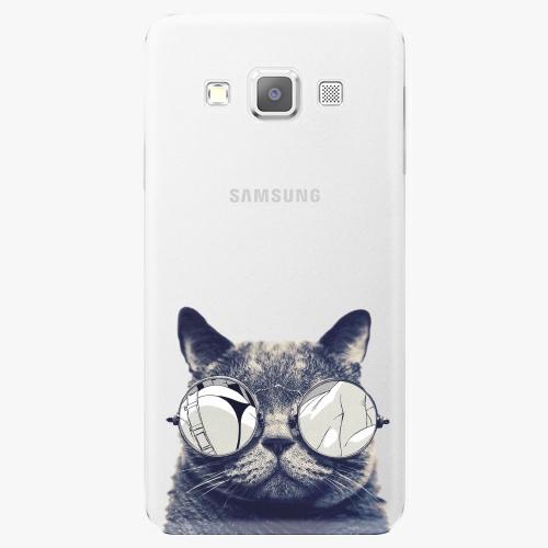 Plastový kryt iSaprio - Crazy Cat 01 - Samsung Galaxy A7