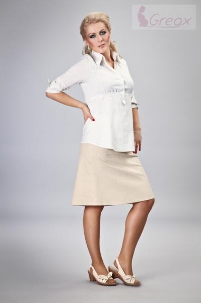 Elegantní těhotenská sukně DENIM - béžová - XL