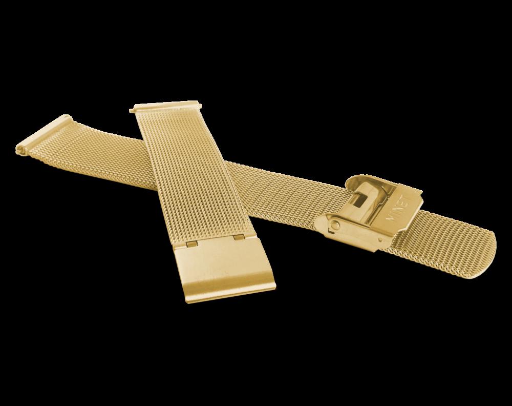 Zlatý kovový tah MINET MESH Band Original Gold - 16