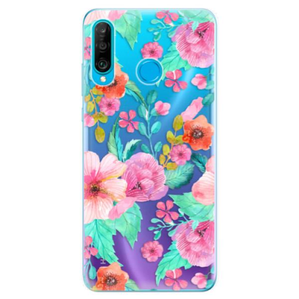 Odolné silikonové pouzdro iSaprio - Flower Pattern 01 - Huawei P30 Lite