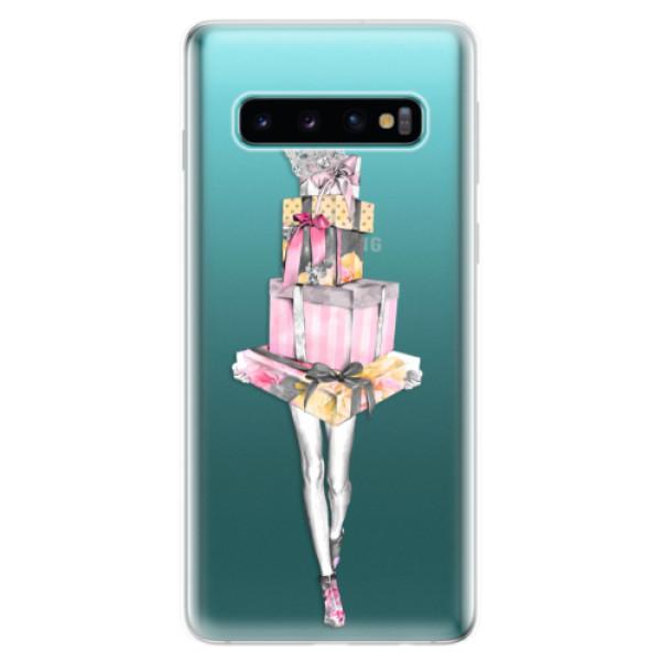 Odolné silikonové pouzdro iSaprio - Queen of Shopping - Samsung Galaxy S10